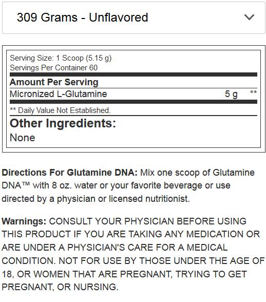 BSN GLUTAMINE DNA NF