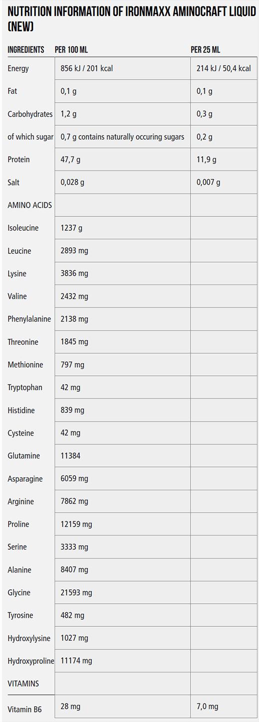IRONMAXX AMINOCRAFT LIQUID-NF