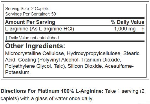 MUSCLETECH PLATINUM 100% L-ARGININE-NF