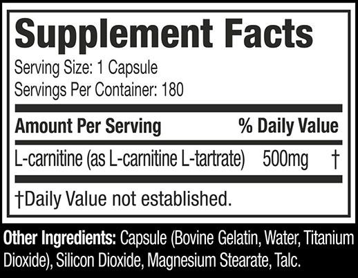 MUSCLETECH PLATINUM 100% L-CARNITINE-NF