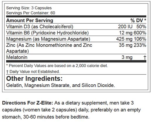 RSP NUTRITION Z ELITE-NF