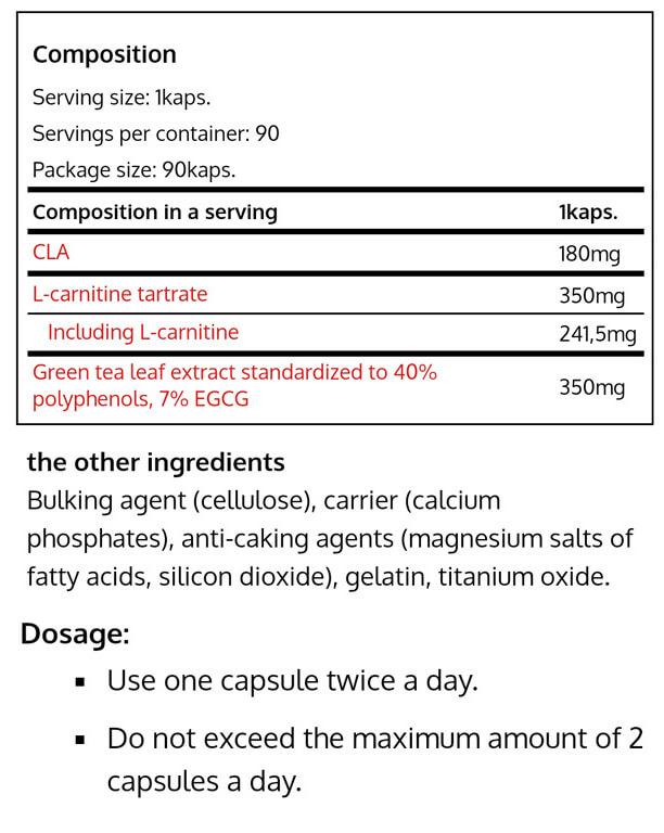REAL PHARM - L-CARNITINE GREEN-TEA CLA-NF