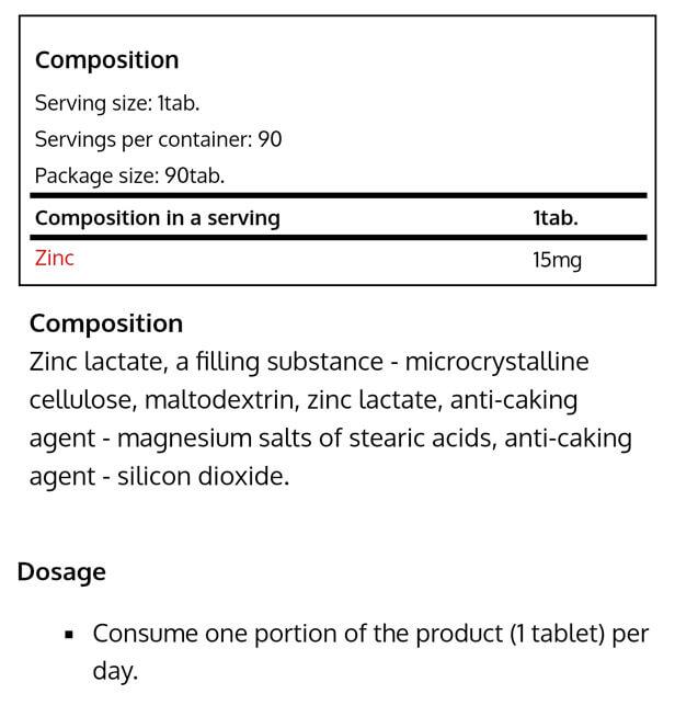 Real Pharm-ZINC 90 tabs -NF